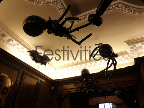 Giant Balloon halloween spiders