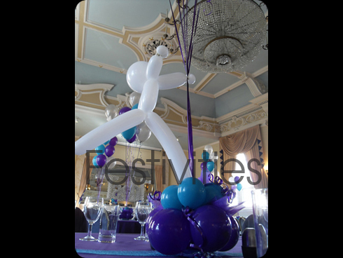 Themed Balloon Table arrangment