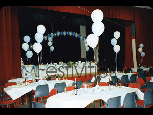 Top table on Stage Balloons