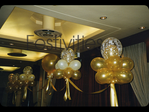 Gold clud nine balloons