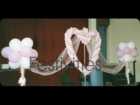 Balloon Topiary and Balloon Heart
