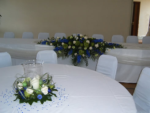 Top table flowers, table flowers
