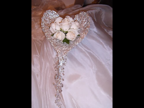 Heart shaped bridal flowers